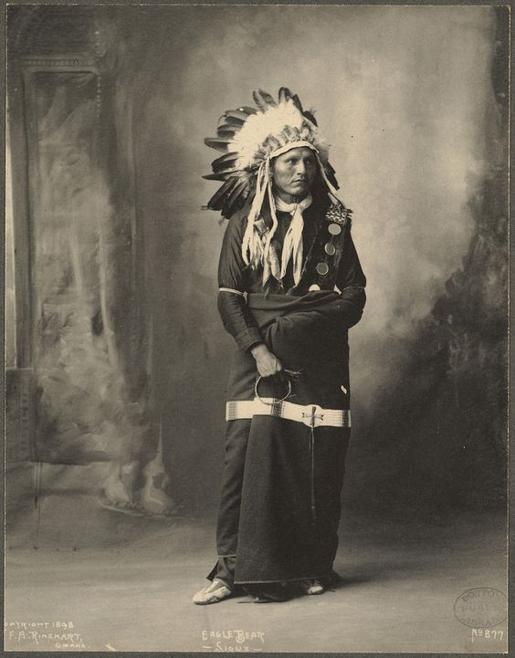 Eagle Bear, Sioux. Frank A.Rinehart photography, 1898