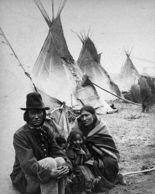 Vintage Native American Family