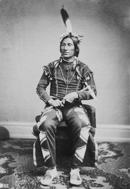 Wo-A-Ki-Tsi-Kan, aka Little Thunder, Yankton Sioux Brave, Dakota. - Photo ca. February-April 1867 by Antonio Zeno Shindler (1823-1899).