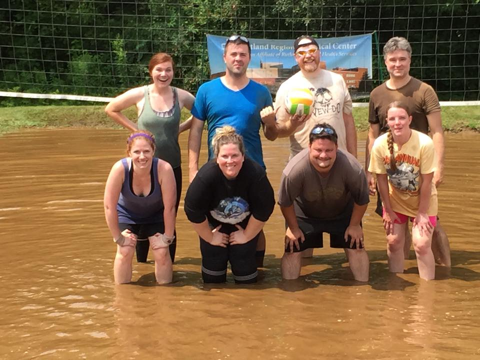Mud Volleyball Competition