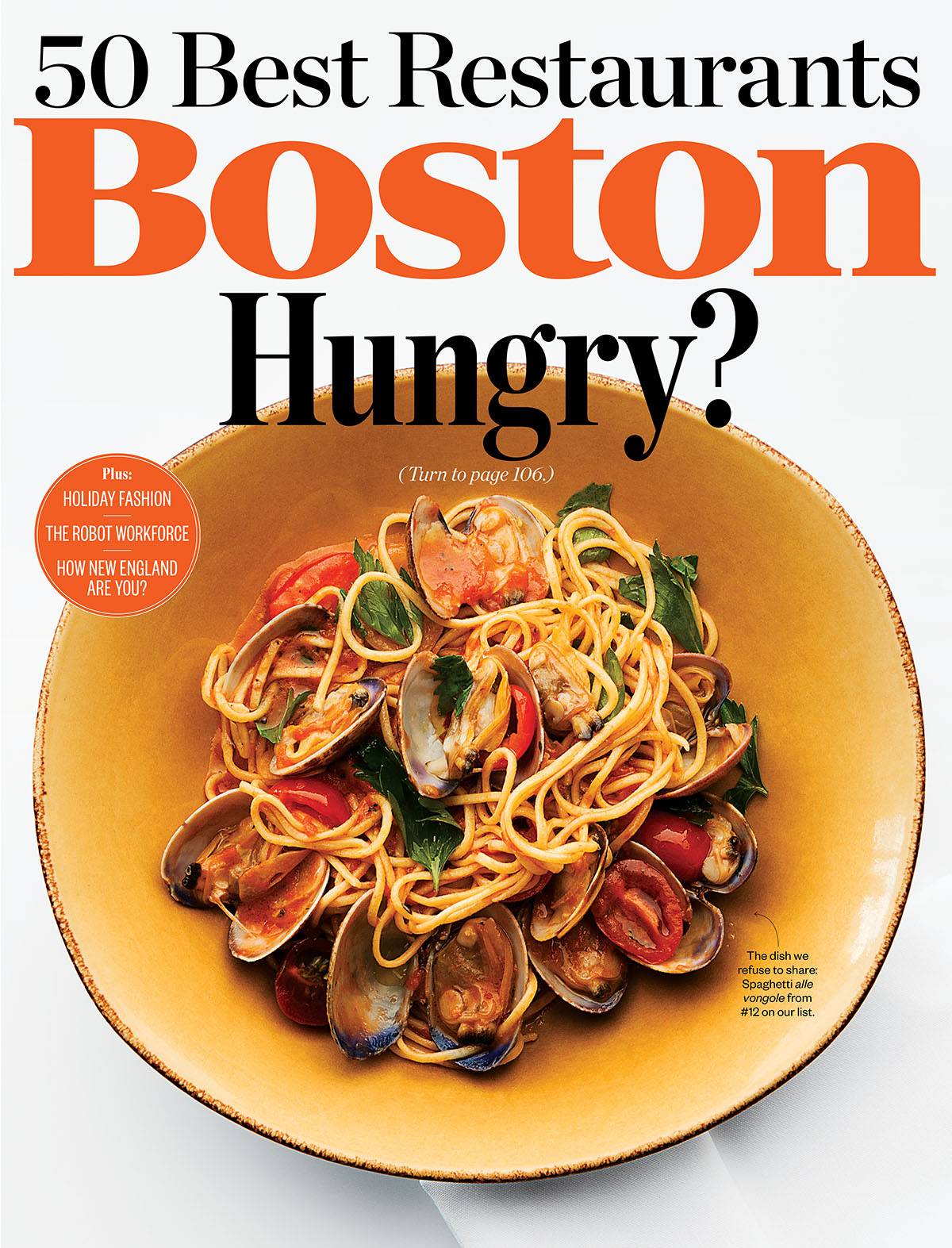 BOSTON MAGAZINE  The 50 Best Restaurants of 2014  NOVEMBER 2014