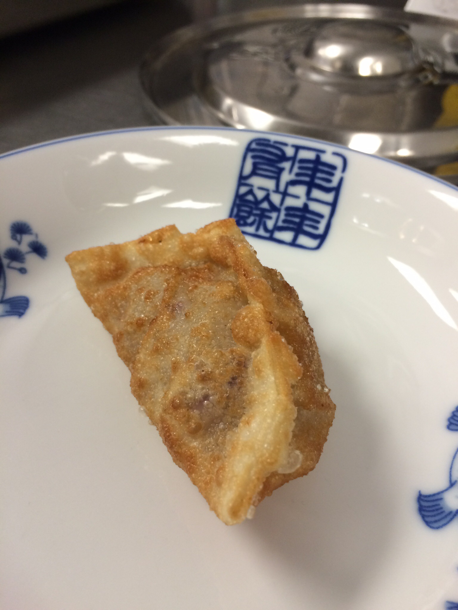 Up close and personal with the crispy bubbly all-new dumpling wrappers.
