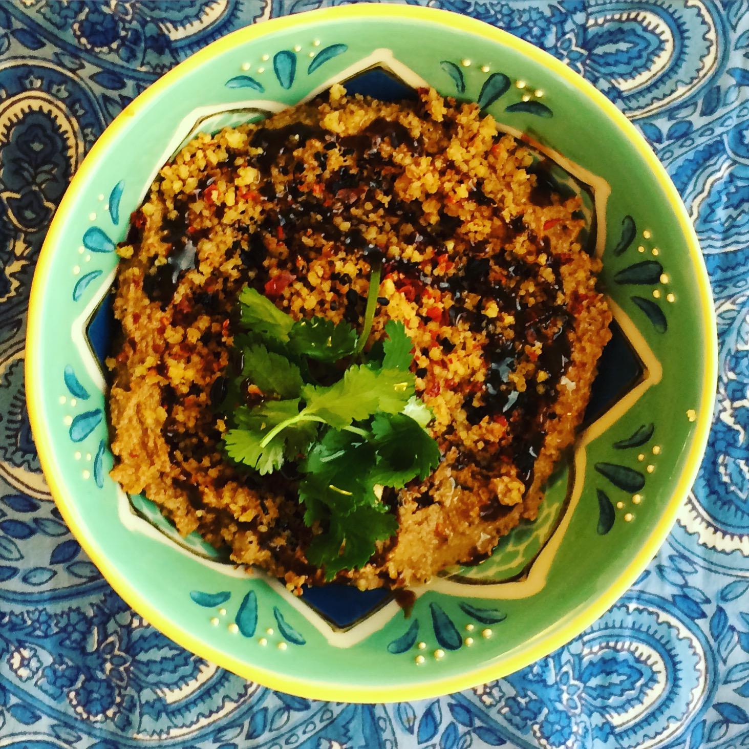 Muhammara with Spicy Walnut and Pomegranate Molasses