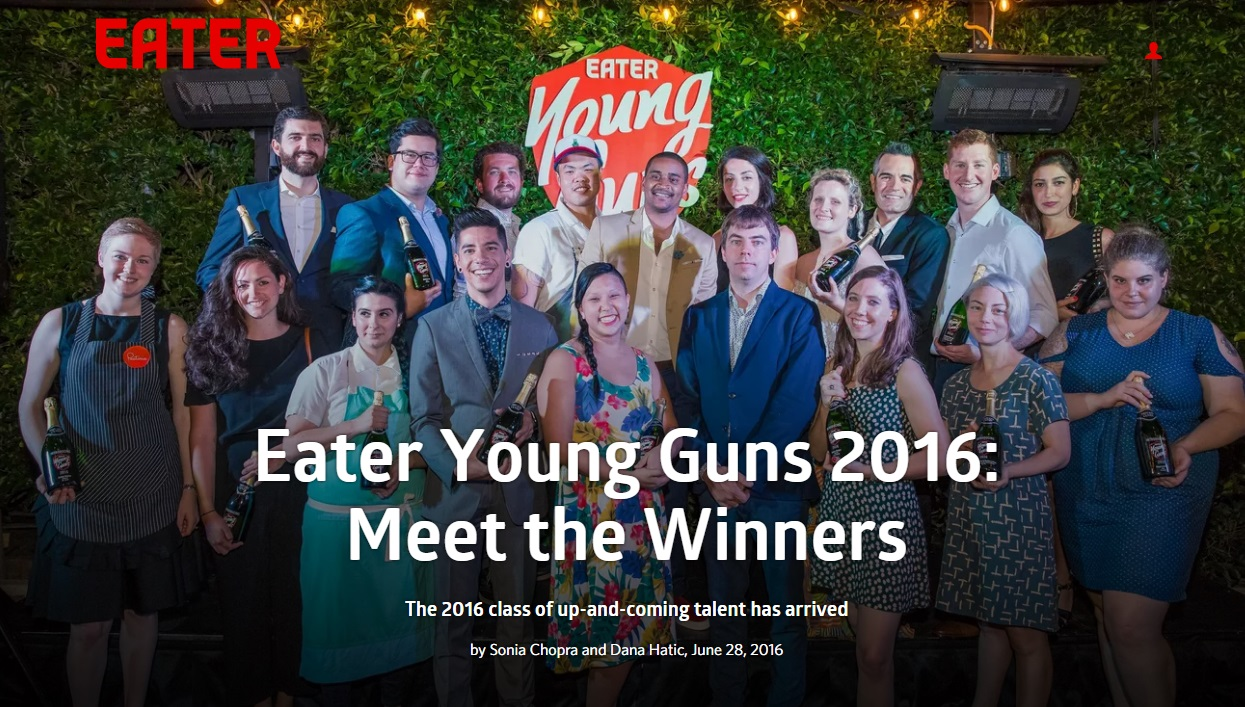 EATER YOUNG GUNS 2016: Irene Li  June 2016