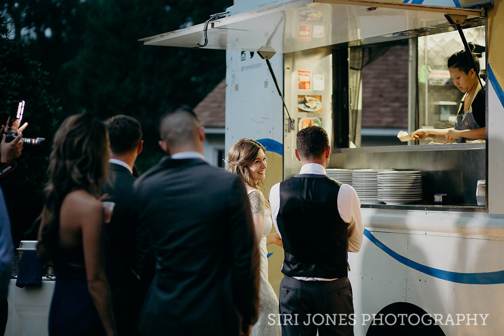 bride and groom mei mei food truck wedding boston