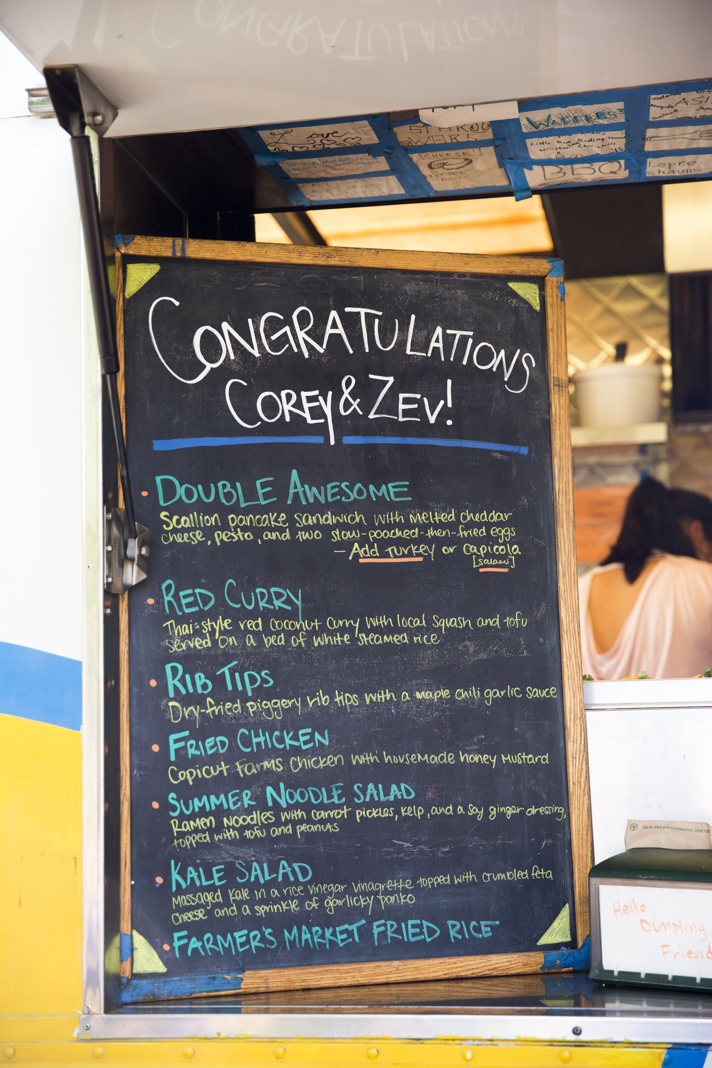 menu for food truck wedding double awesome