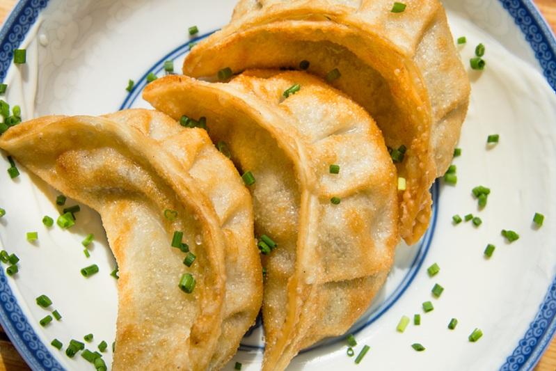 PIEROGI DUMPLINGS - creamy potatoes, cheddar, local veggies, sour cream, 3pcs / 6| vegetarian