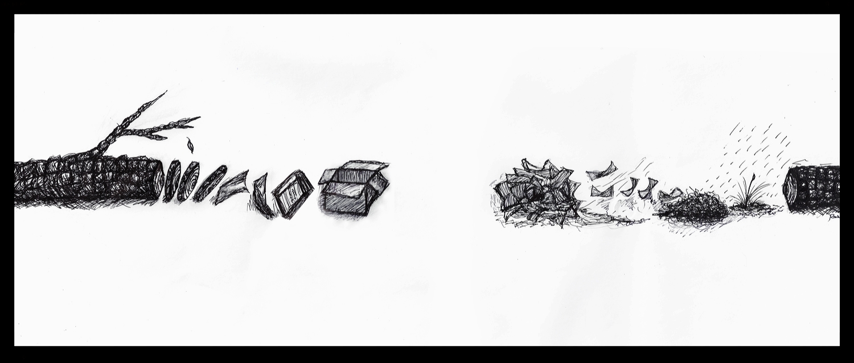 'tree/paper/tree' I drawing