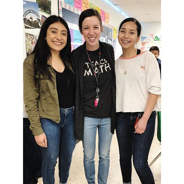 When your former students come say hi! to you!! The best Friday surprise ever!!!