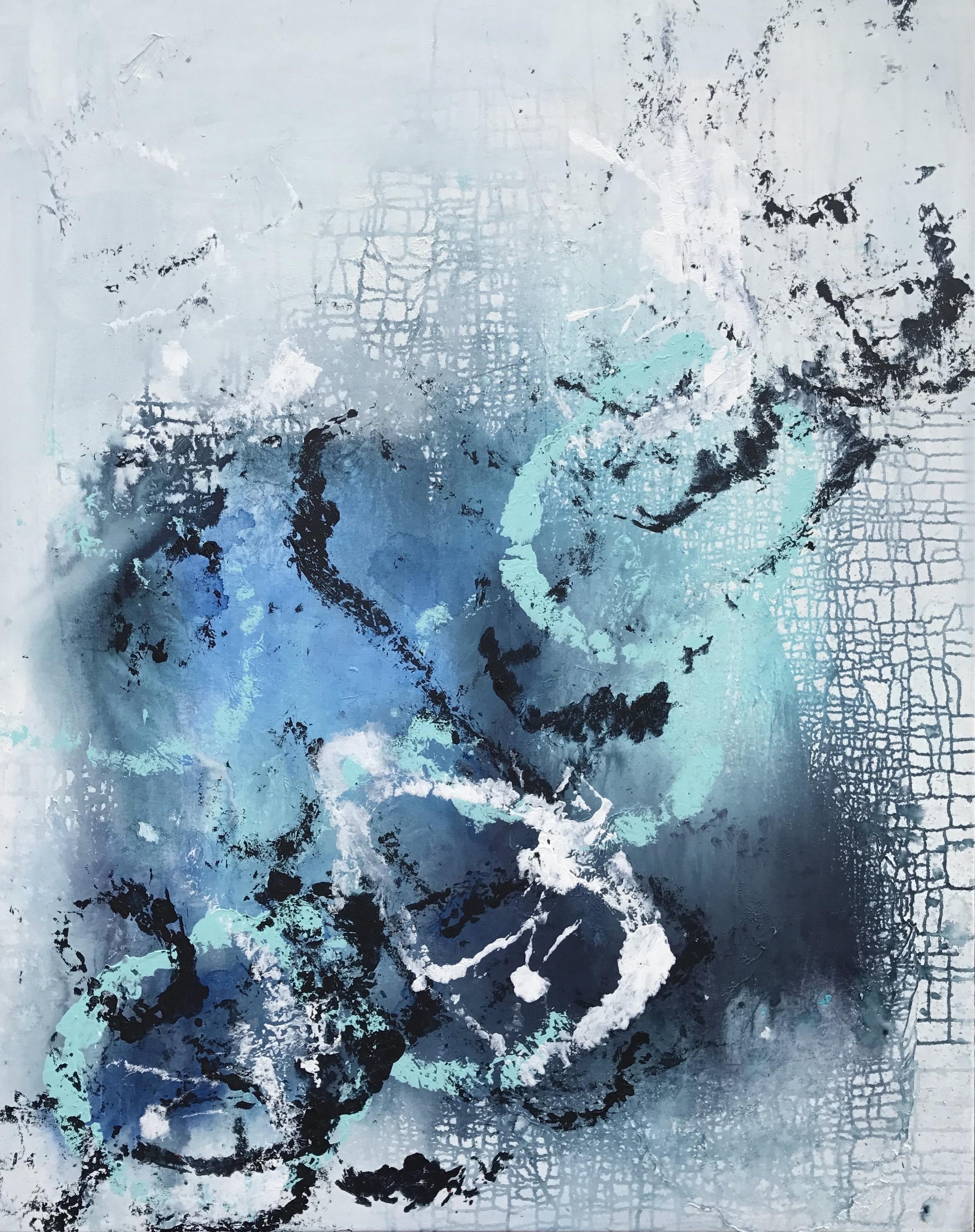 """""""Thalassic"""" mixed media on canvas 48"""" x 60"""""""