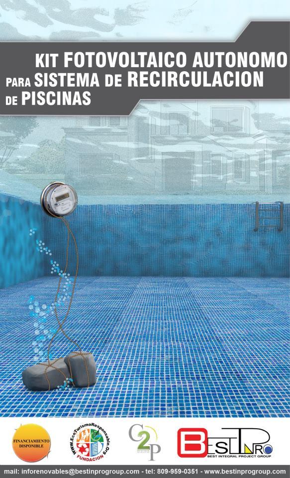 Podrá hacer funcionar la bombas de recirculación de su piscina de forma totalmente autónoma. Reduzca a cero el coste energético de su piscina.
