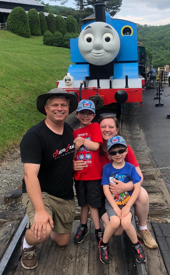 David, Christin, Benjamin, and Jonathan - Summer 2018