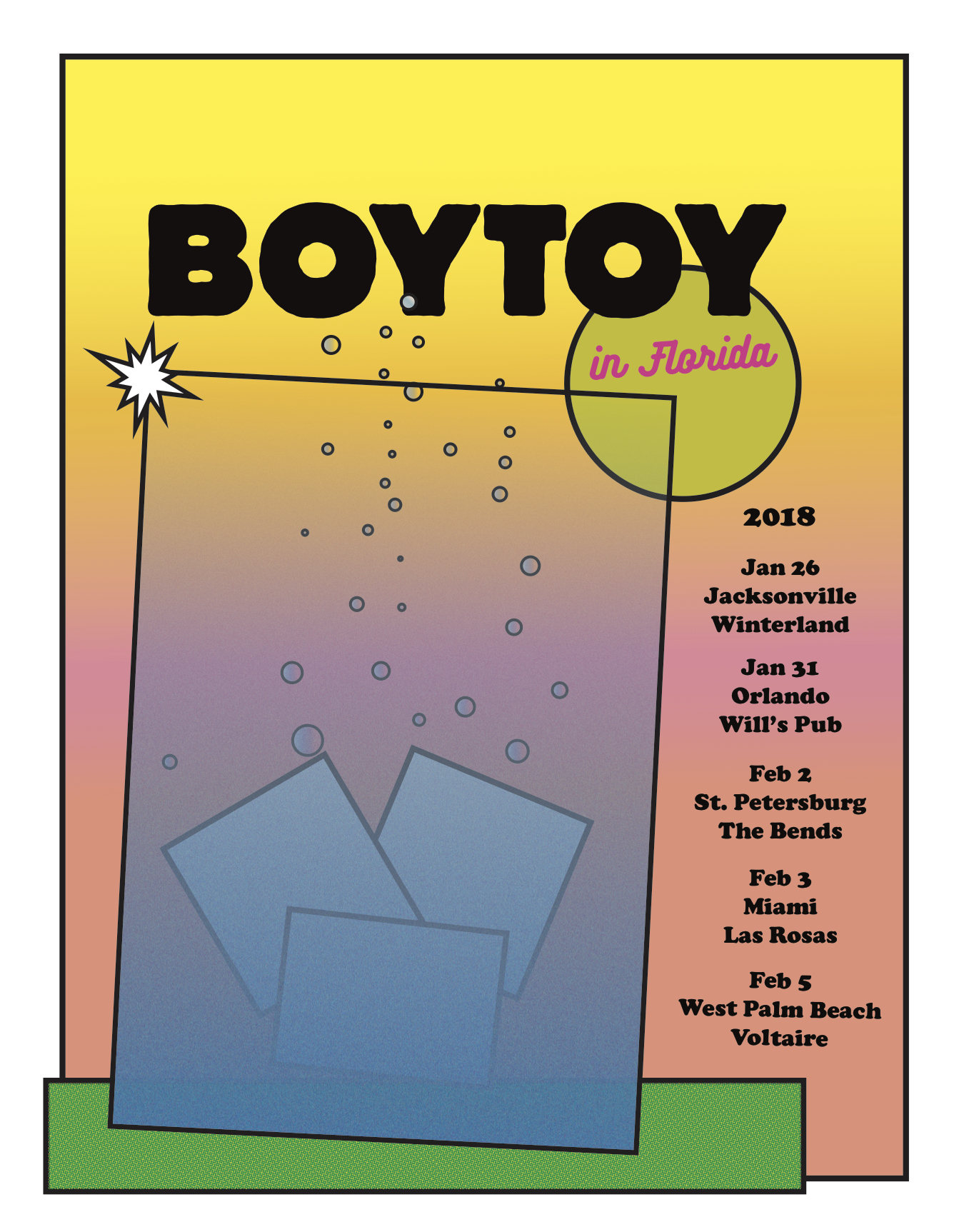 BOYTOY Florida tour poster