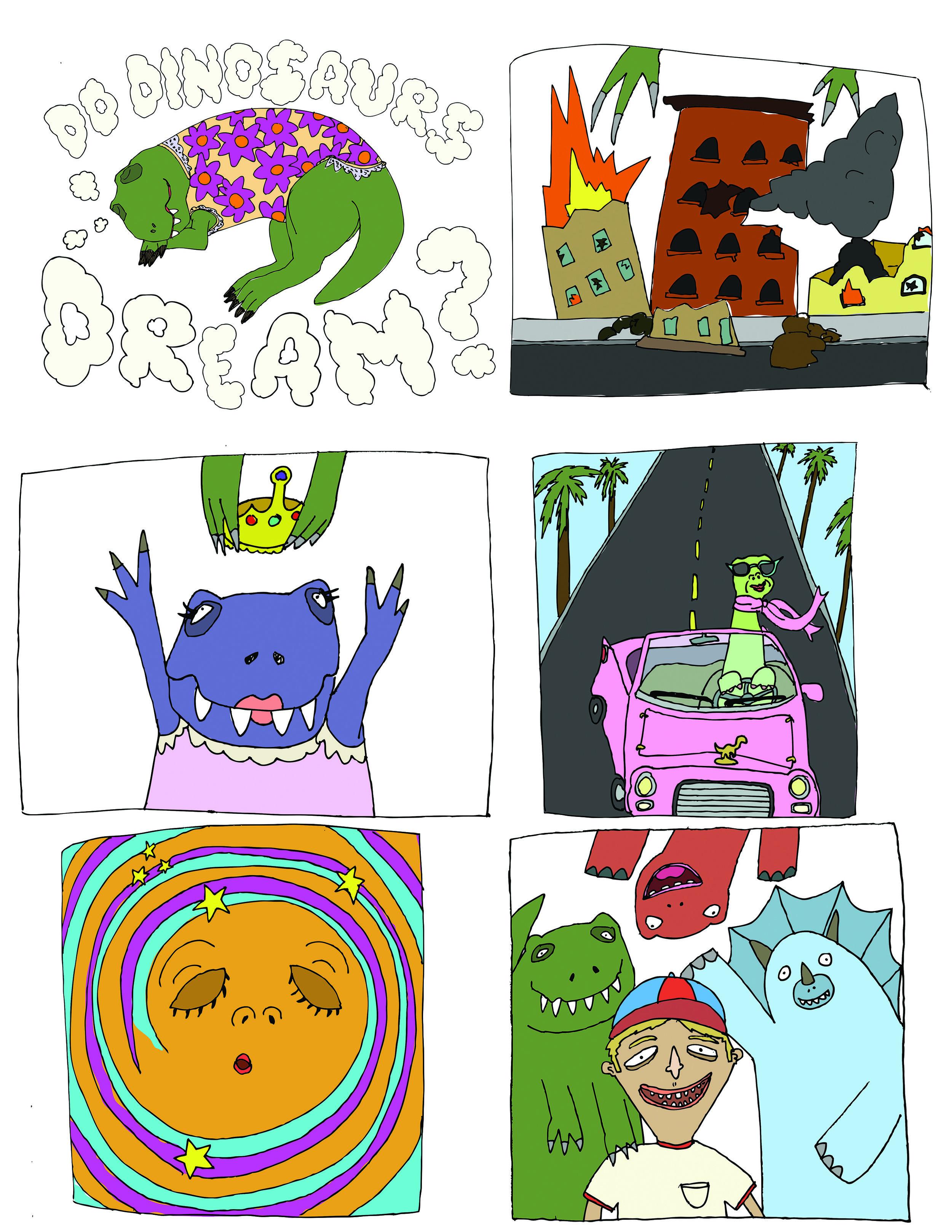 """""""Do Dinosaurs Dream"""" childrens book"""