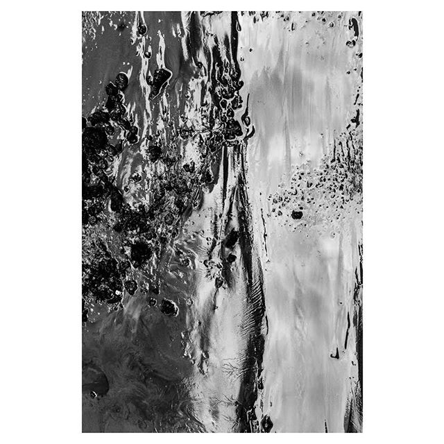 #blackandwhitephotography #mud #water #paint #abstraction #archivalpigmentprint