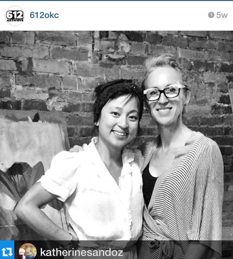 with artist  Denise Duong  of OKC, photo by Amy Young