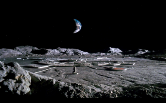 Artist concept of secret moon bases owned by factions of the secret space programs. The majority of these bases are underground and used by hundreds of extraterrestrial groups on the dark side of our moon.