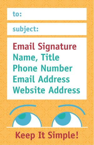 Email Signature graphic - keep it simple
