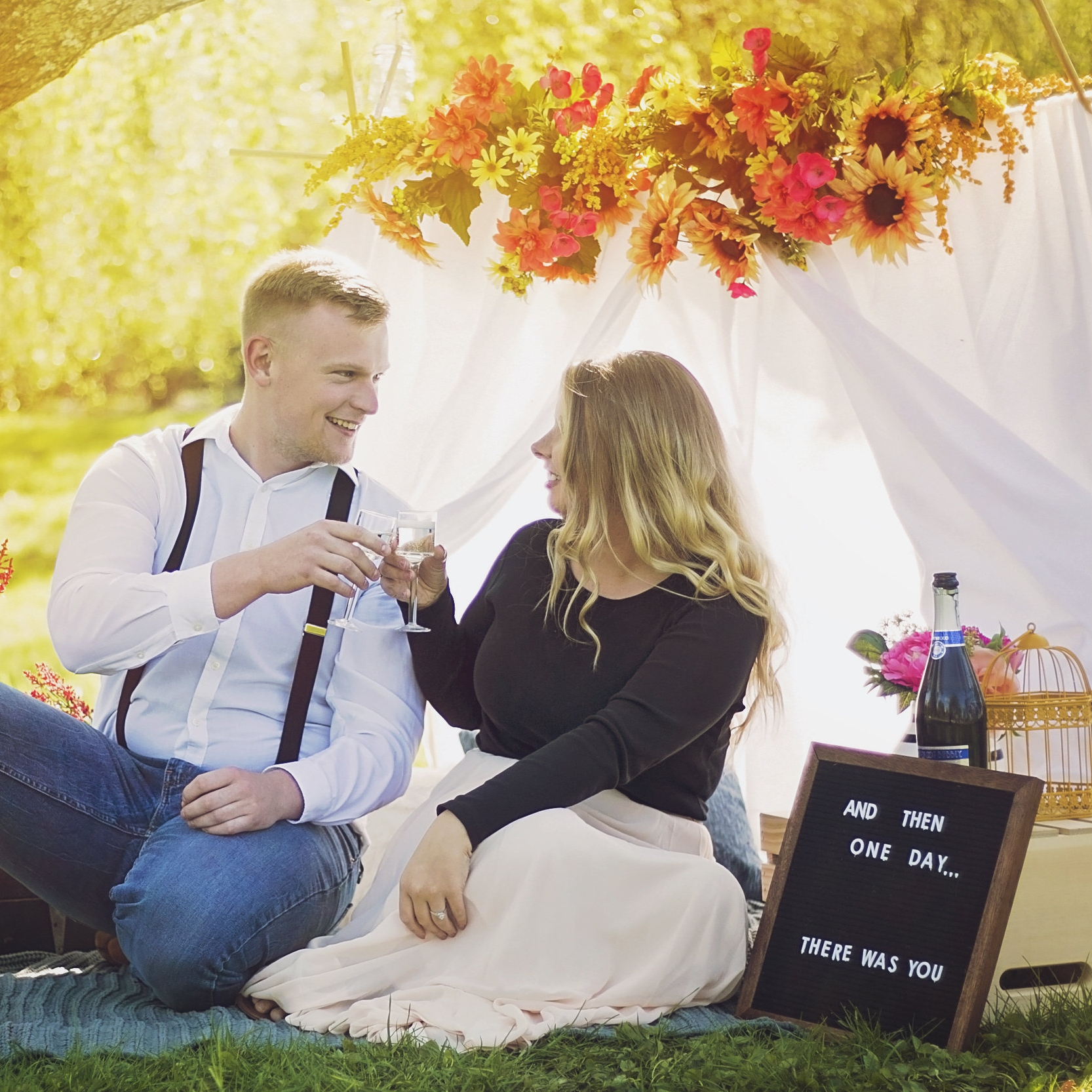Styled engagement photoshoot by  say yes to jess