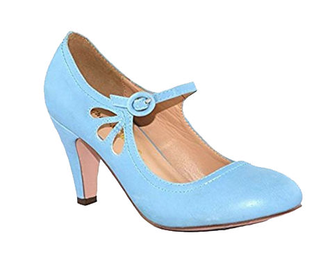 30's themed powder blue  kitten heel teardrop shoes for cake smash session in cincinnati ohio.jpg