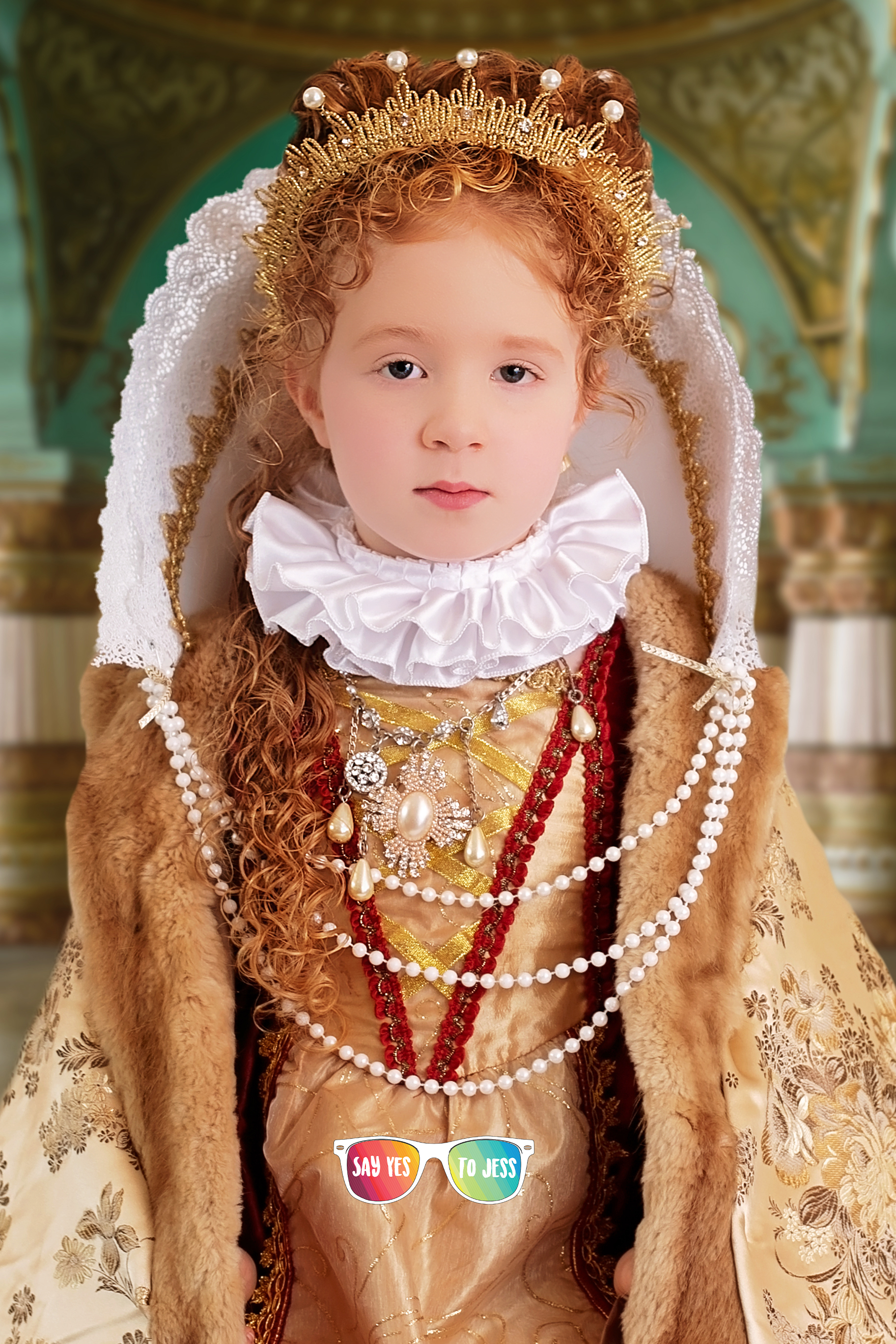 Say yes to Jess photographs Little girl dresses as Elizabeth I of England for International Womens Day