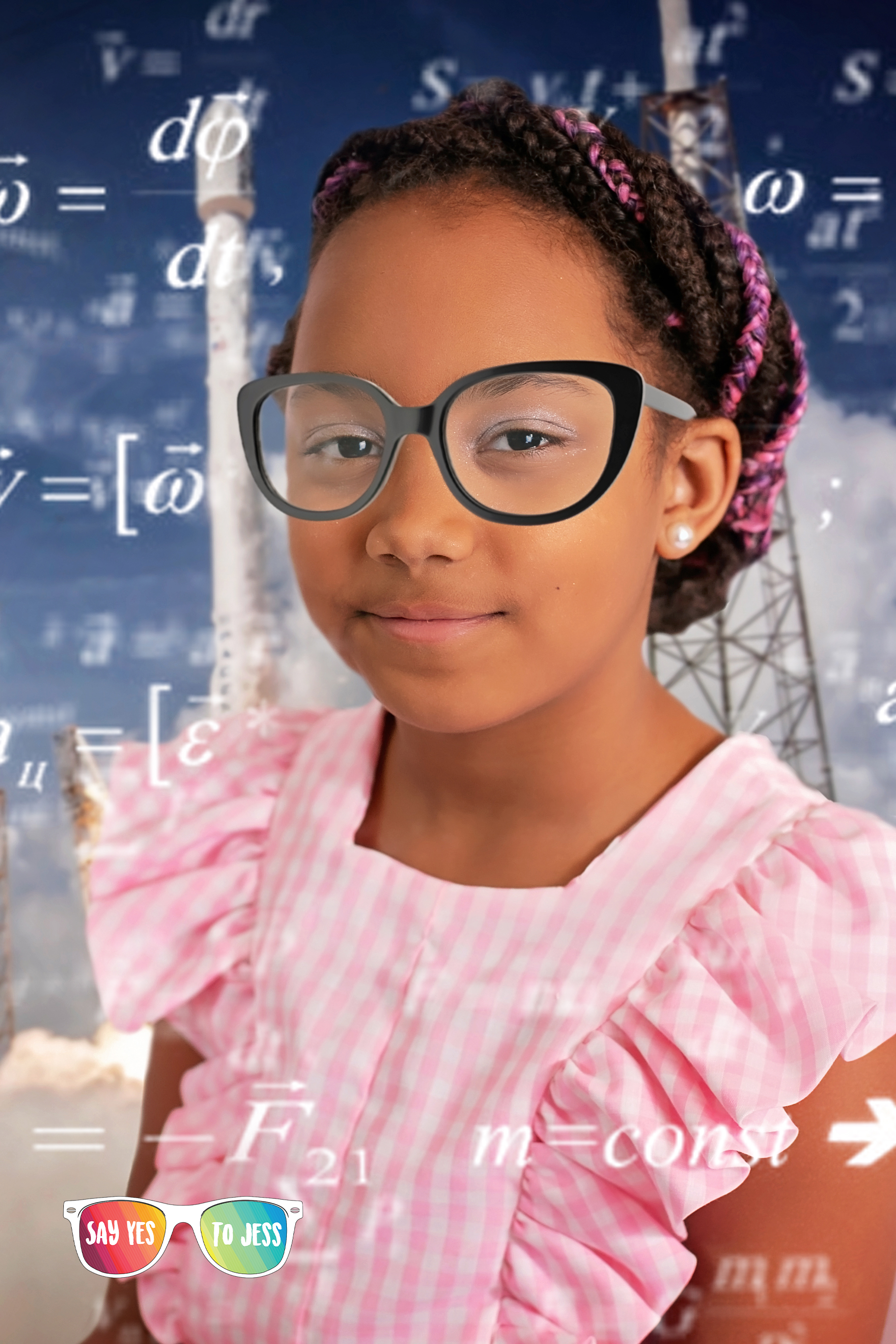 Young girl dresses up as Katherine Johnson for International Womens day