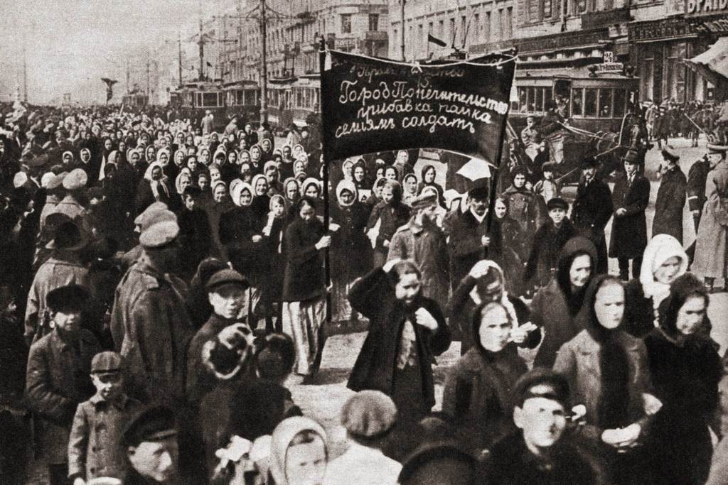 Women's demonstration for bread and peace - March the 8th, 1917, Petrograd, Russia