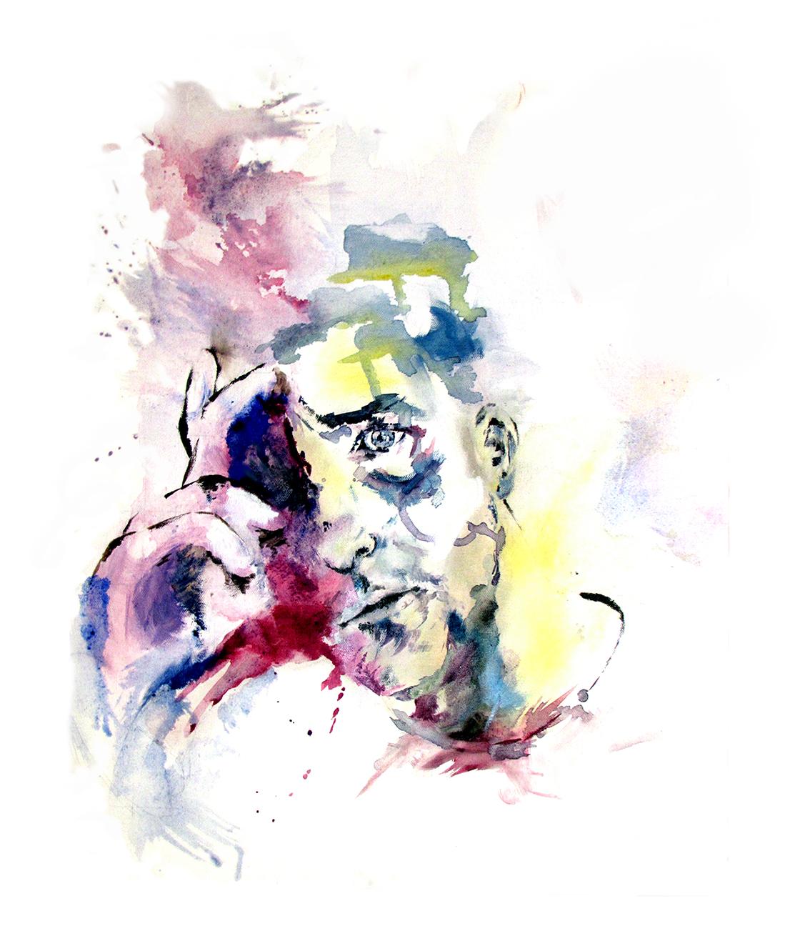 self portrait 2013 (oil + acrylic)