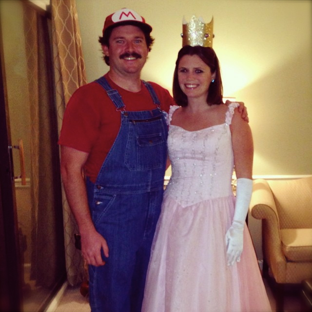 Ashley's BFF Meridith and her husband Jeff as Mario and Princess Peach