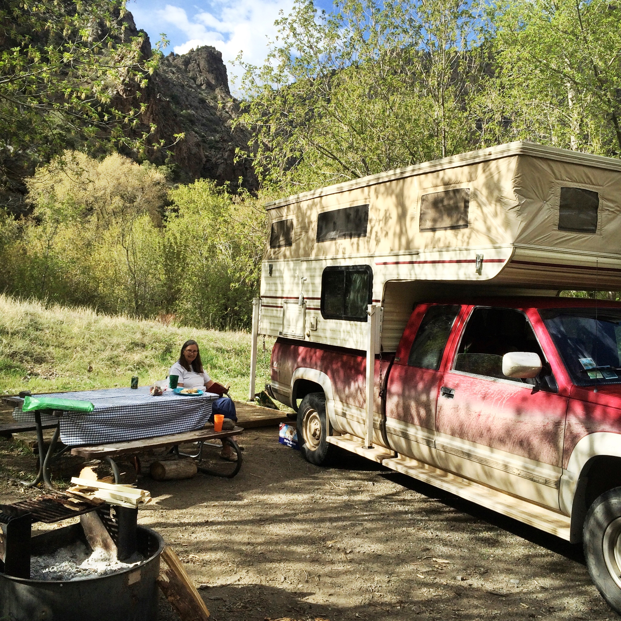 Our campsite in Th East Portal campground of the Black Canyon