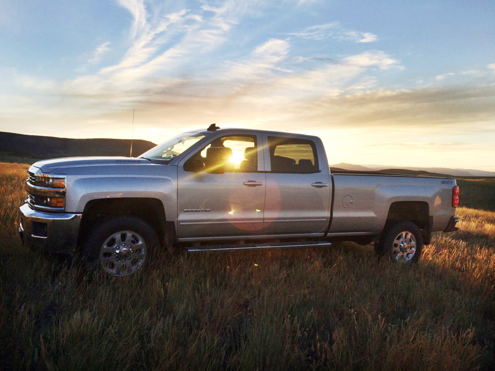 Our new Chevy Duramax visits the cabin for the first time.