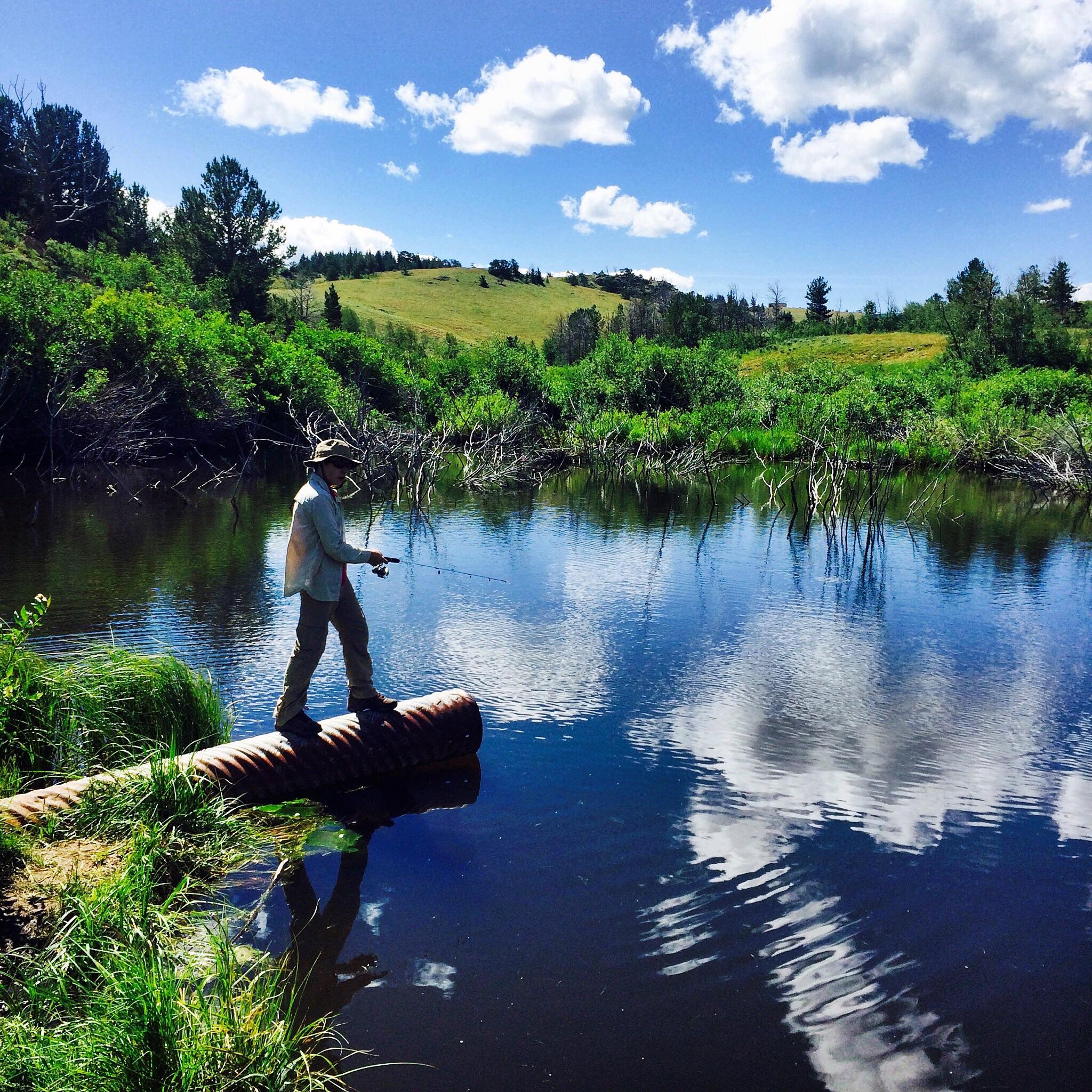 Gabe at Bennet's Pond