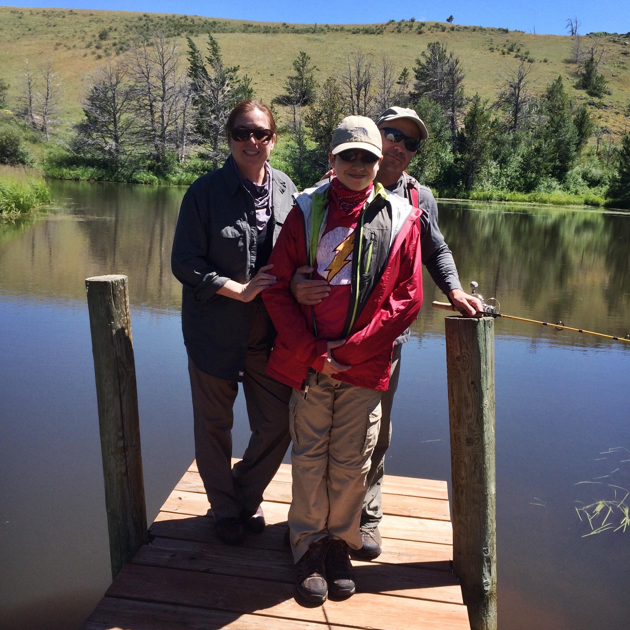 Fishing at the big pond