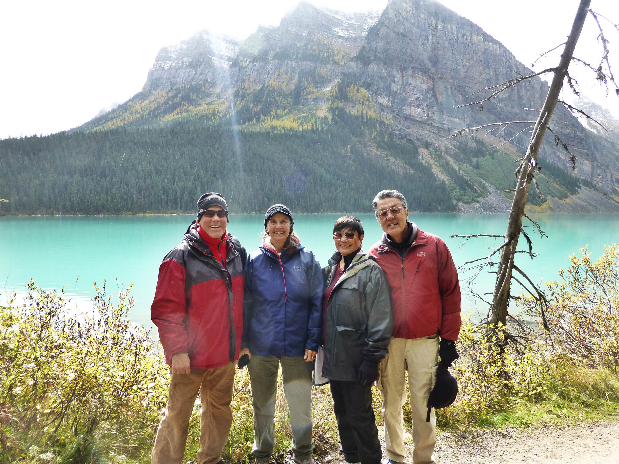 Four Musketeers at Lake Louise