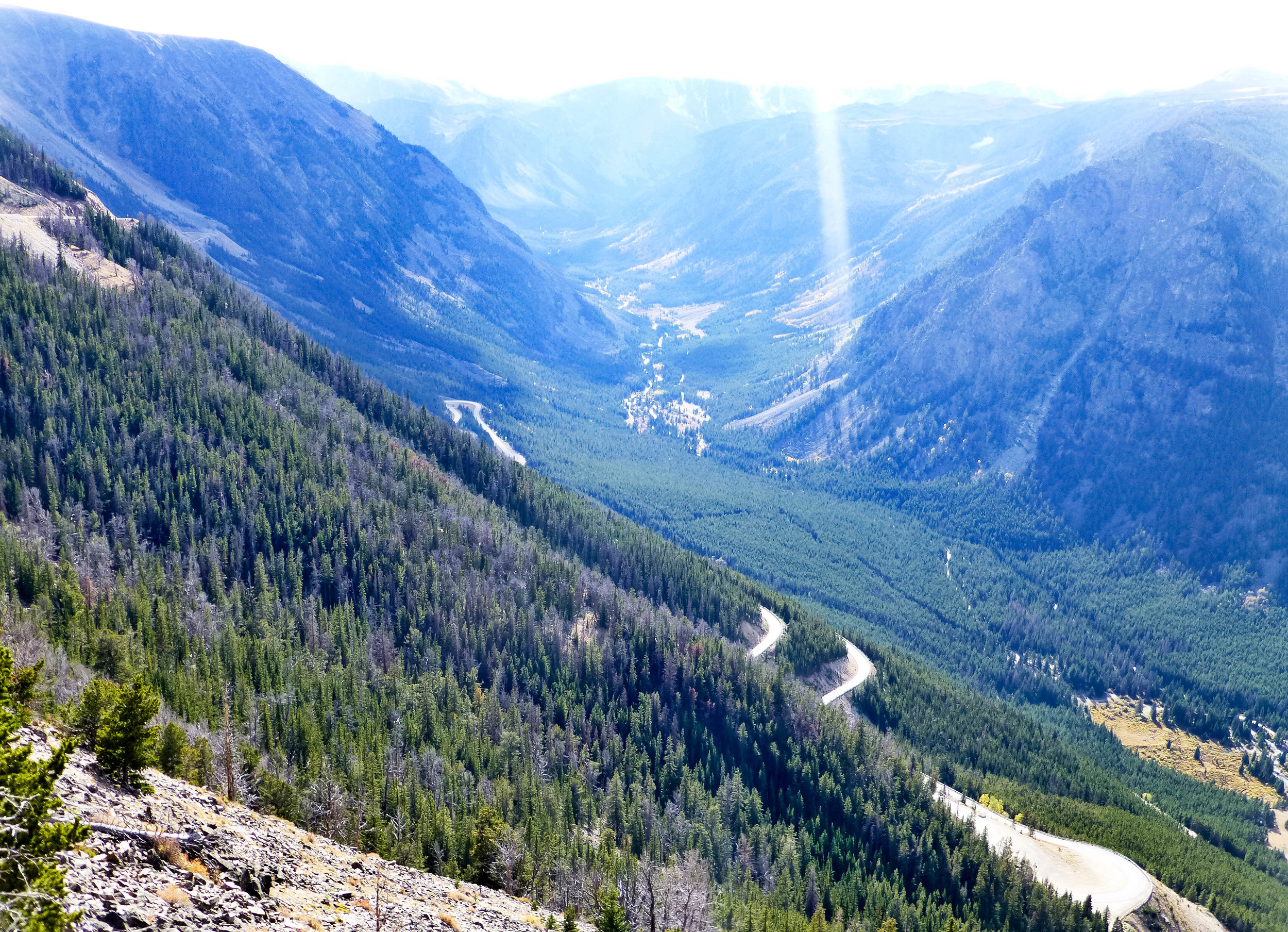 On the Beartooth Highway - harp hairpin curves