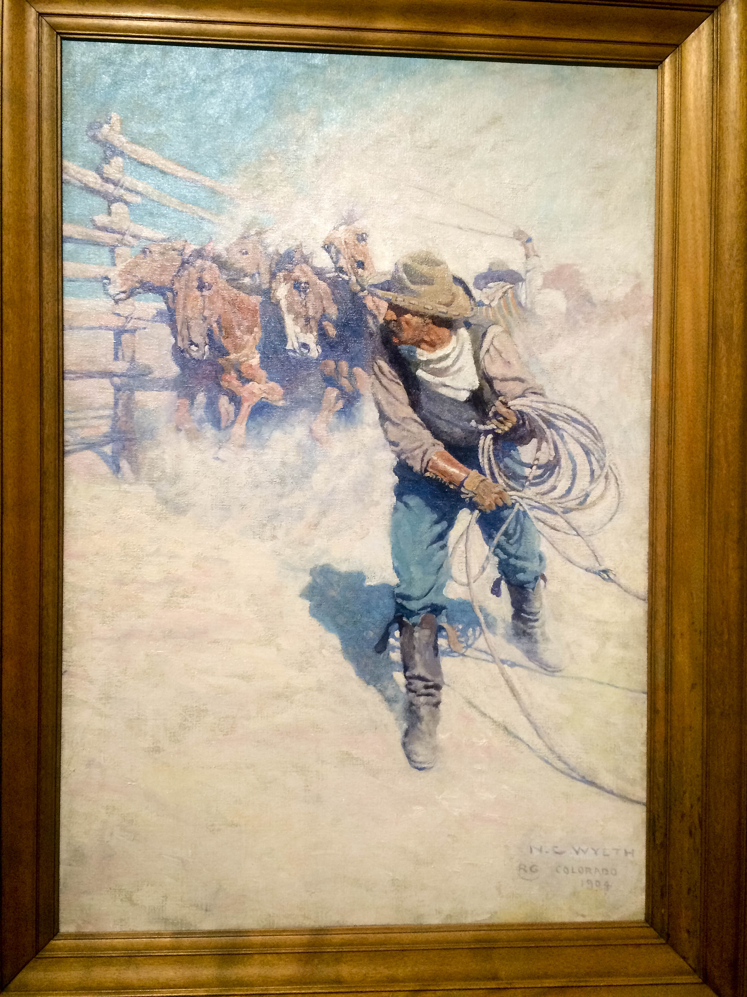N.C Wyeth, part of the western art collection at the Cody Museum