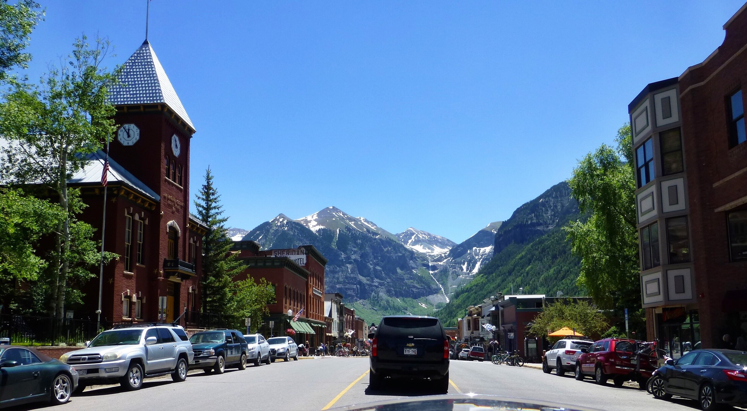 The town of Telluride, so pretty