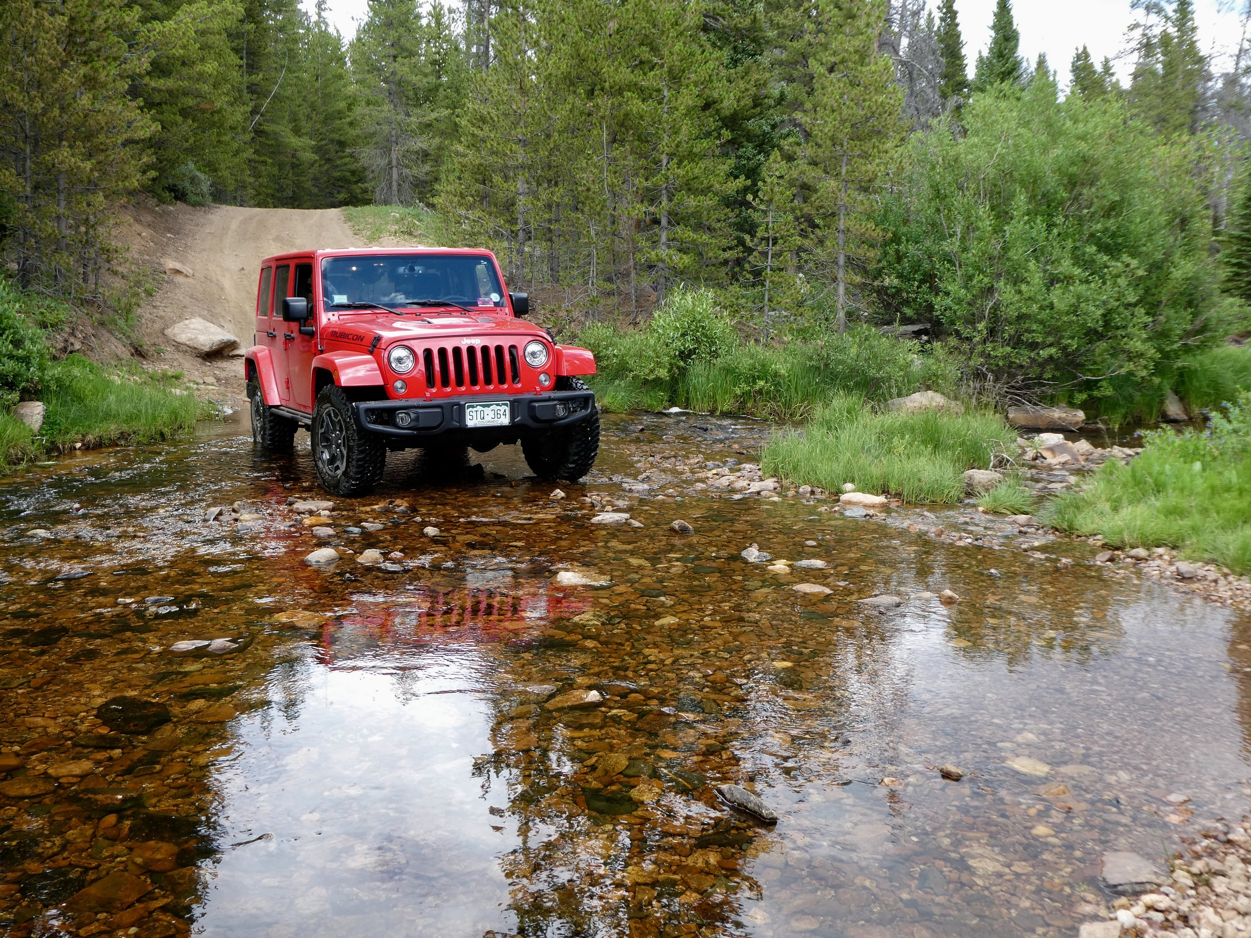 Fording Sand Creek