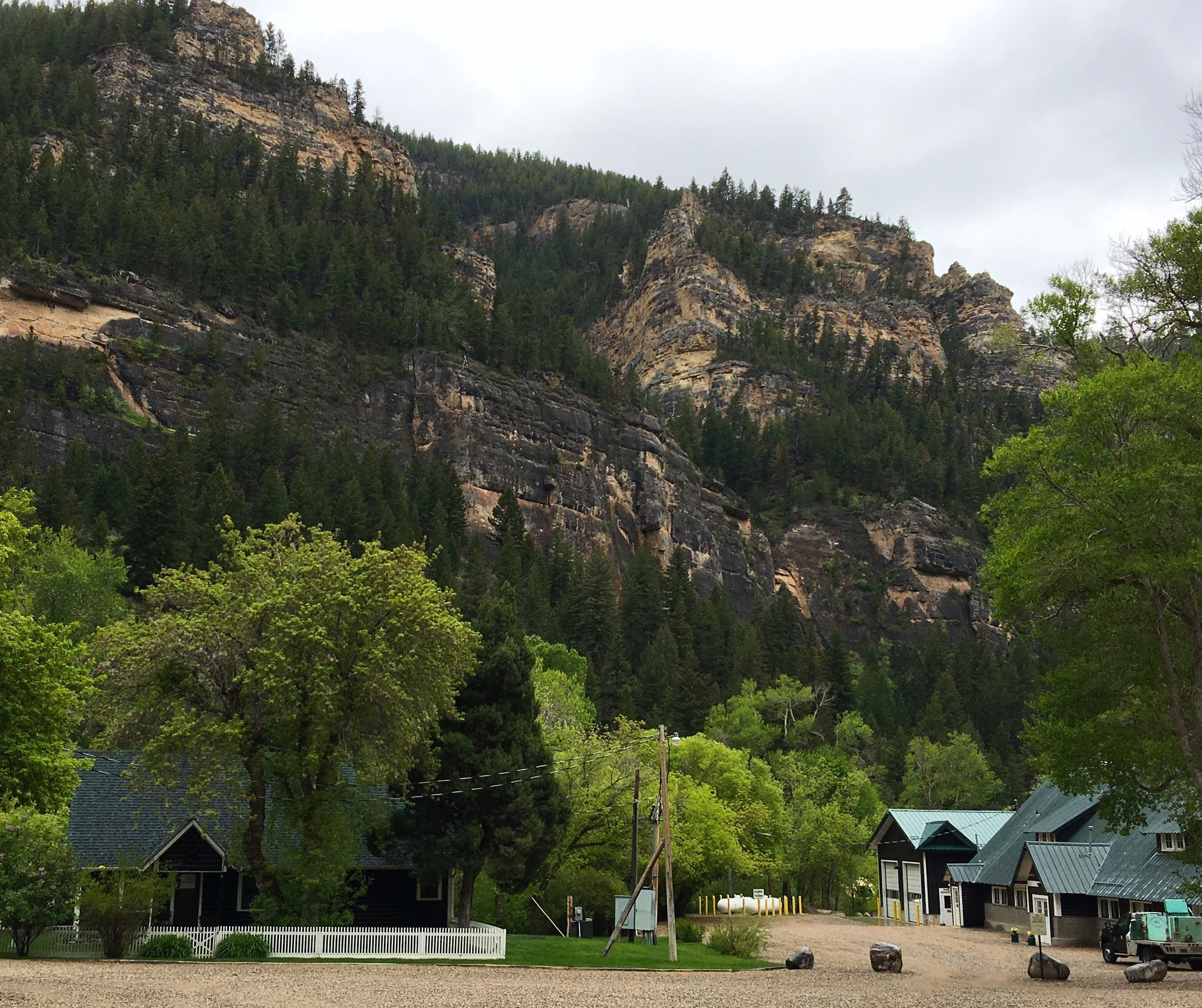 The fish hatchery and staff quarters in lovely Tensleep canyon