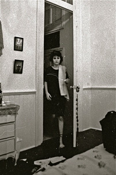 Cristina in her New Orleans apartment, spring '88.