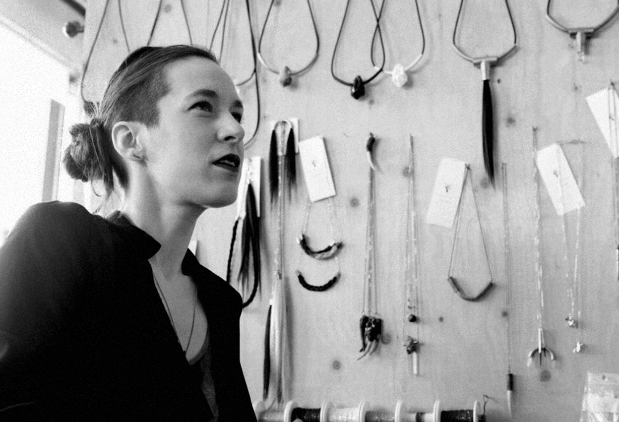 Bodineau at her Montreal studio, byHugo-Sébastien Albert.
