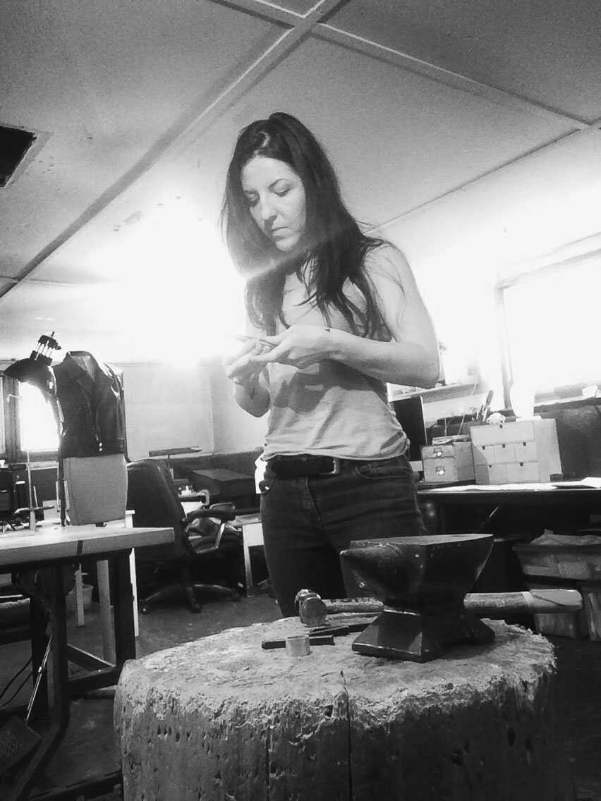 Laura working in her Chicago studio.