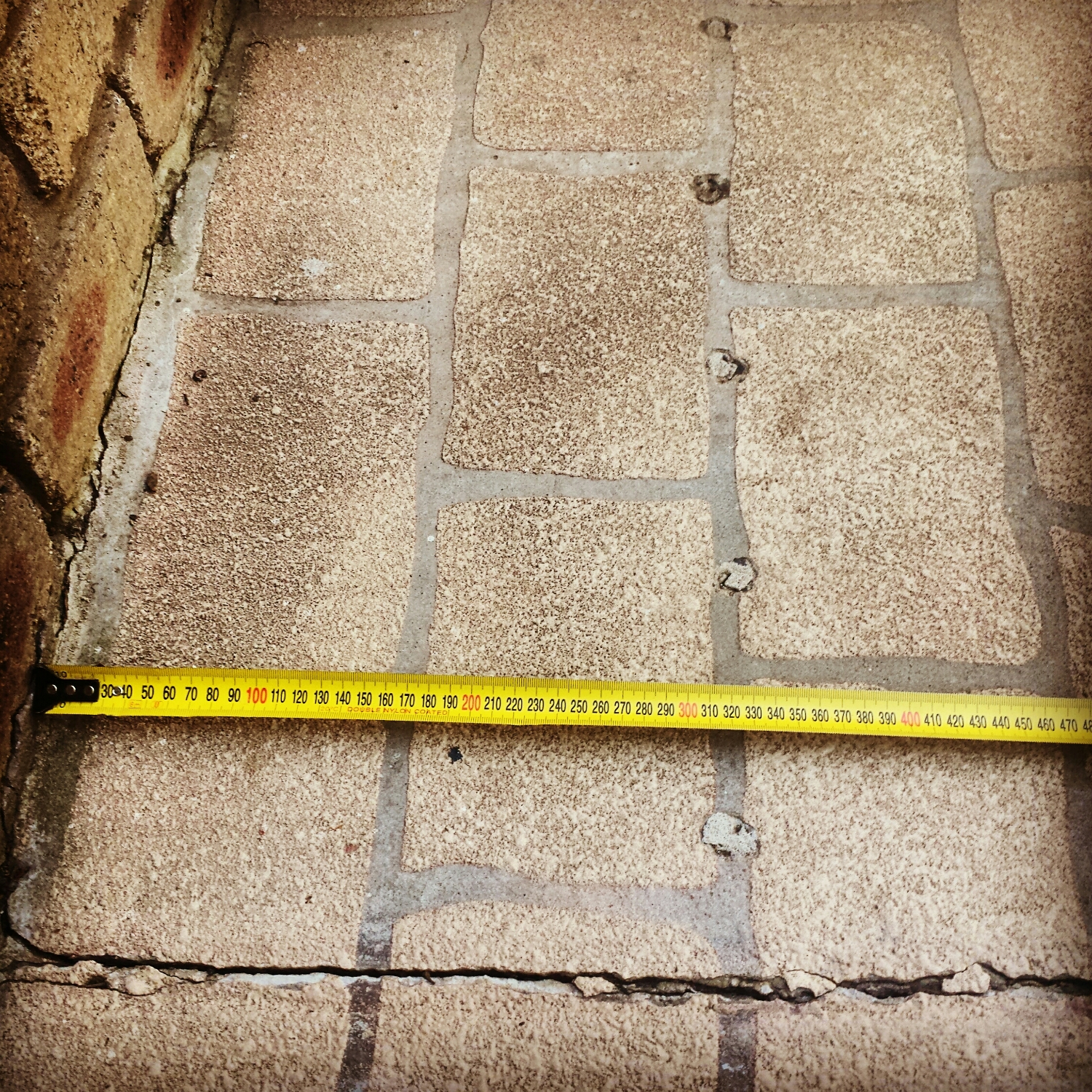 Hole Spacings! When holes are drilled to inject termiticide under a concrete slab to treat the footing of a wall, the holes cannot be more than 150mm from the wall. This home had holes exceeding 300mm. Needless to say, the original treatment failed and the home was re infested.