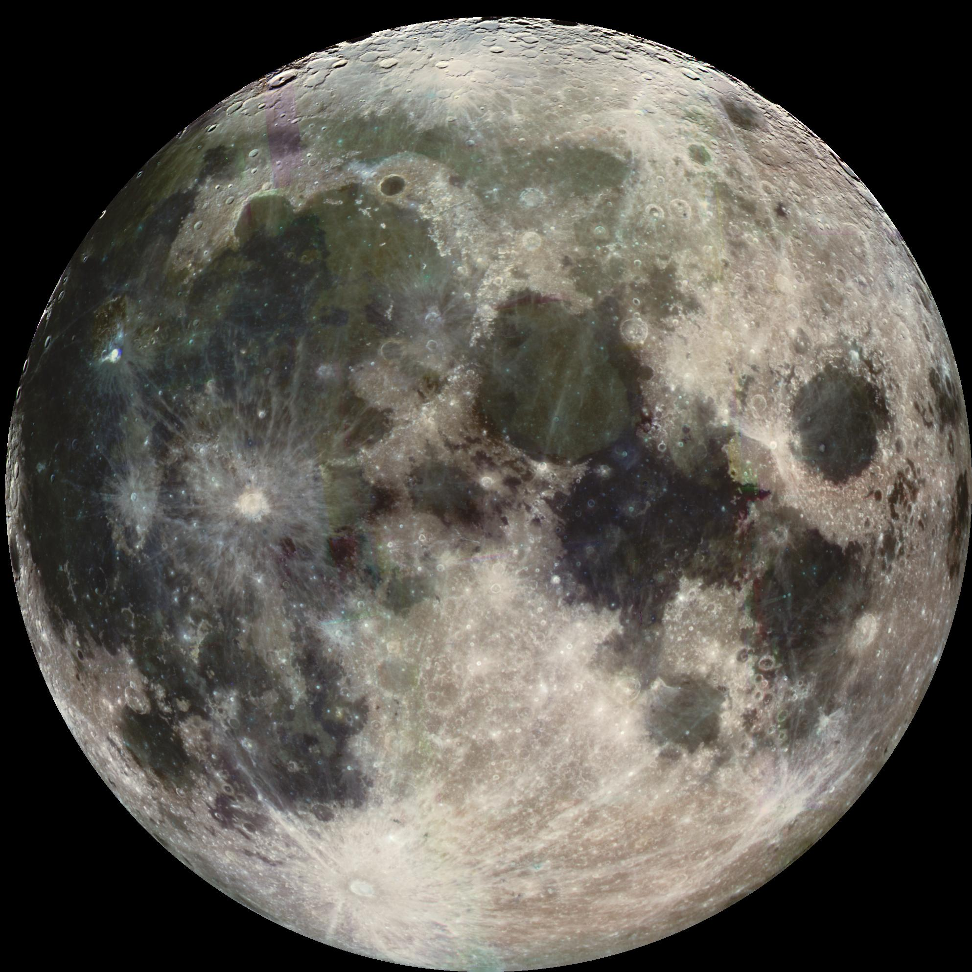 The Full moon (photo: from the galileo mission, 1992, Courtesy of Nasa)