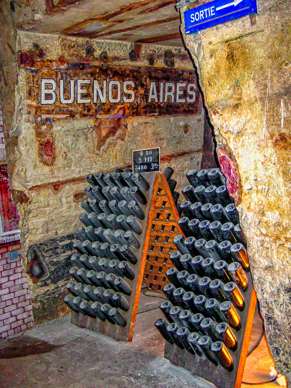 """Pommery's cellars are so vast, corridors are """"avenues"""" named after places where Pommery is loved"""