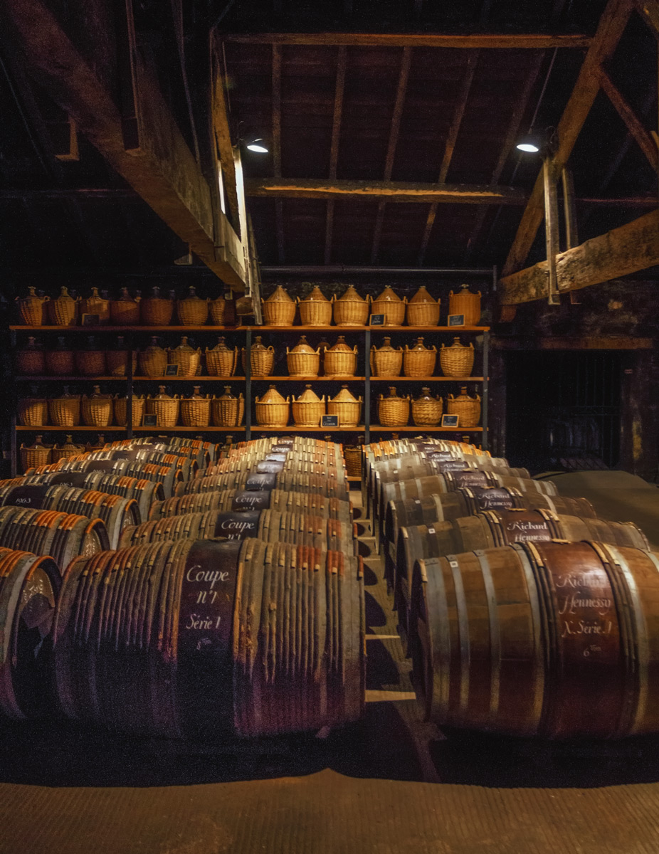 The glorious Paradis at Hennessy with spirits from the 19th and 20th centuries aging quietly (Photo Lyn Farmer)