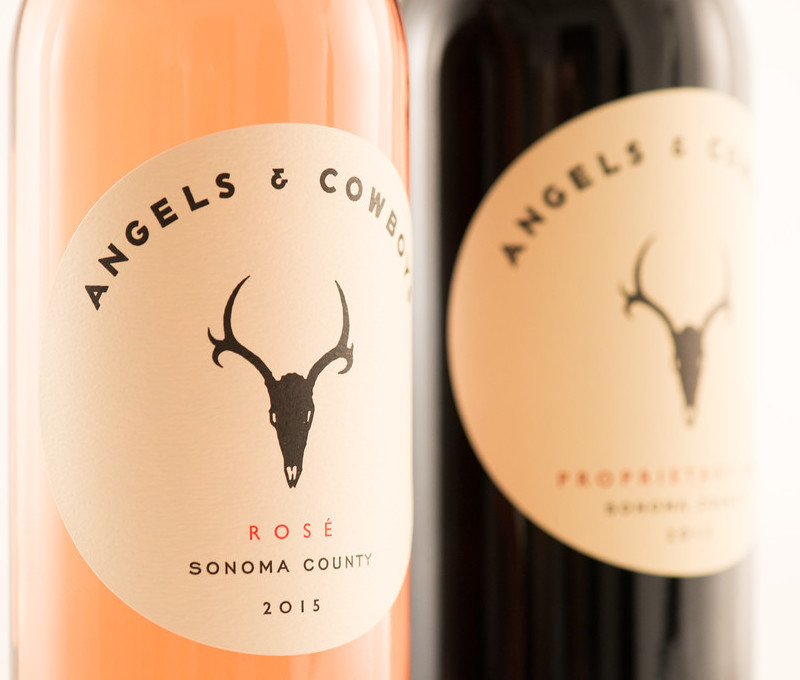 The two wines produced by Angels & Cowboys (Photo Angels & Cowboys)