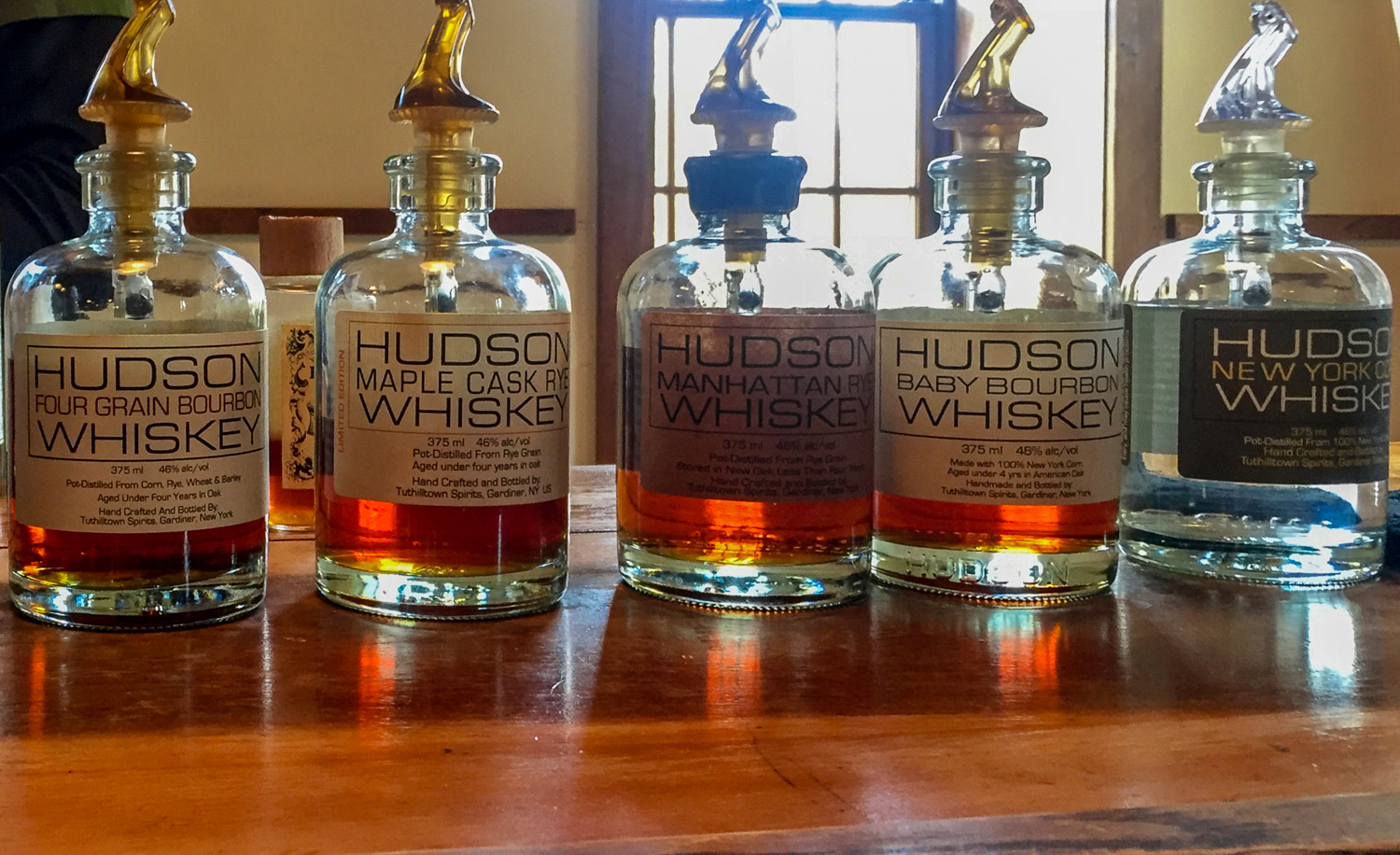 Some favorite whiskies, including ryes, from Tuthilltown Distillery in New York (Photo: Lyn Farmer)