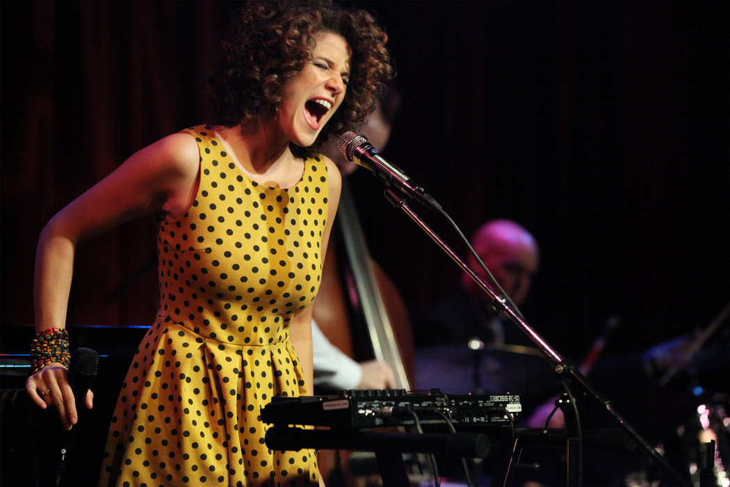 Cyrille Aimée in concert (Photo:Michelle V. Agins/The New York Times)