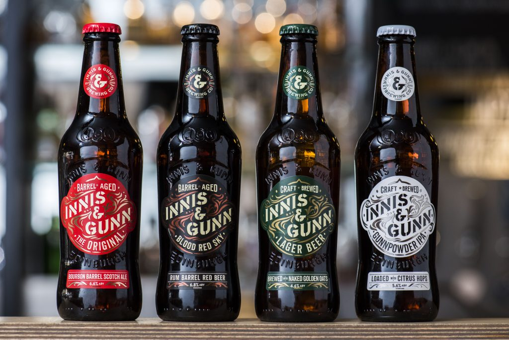 The new lineup from Innis & Gunn, faux barrel brewers (Photo: Innis & Gunn)